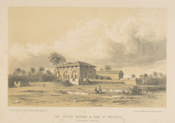 The Dutch Factory and Fort at Vingorta - Southern Koncan. One of a series of Views in India and in the vicinity of Bombay
